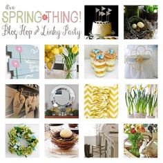 Huge Spring Link Party and Blog Hop - DIY Spring Mantels Recipes Decor and More!!! #Spring #everything