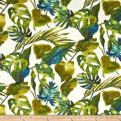 Tommy Bahama Indoor/Outdoor Inky Palms Jade from @fabricdotcom   Screen printed on medium-weight (6 oz.) 100% polyester, this bestselling Tommy Bahama versatile fabric is perfect for your outdoor porch and indoor sun room. Its versatility is only matched by its durability. This fabric is both soil and stain resistant and water and oil repellent, making it the perfect fabric for life's messes. Create chair pads, cushions, toss pillows, slipcovers, upholstery, tote bags or heavy-duty travel…