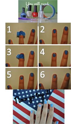 I think instead of that light blue a navy blue or a red for the other nails!