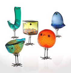 "An assortment of glass 'Pulcini"" birds designed by Alessandro Pianon for Vistosi of Italy in 1963. Photo: Phillips"