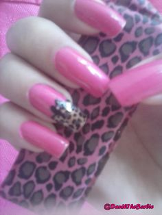 Nail art By me #Nails #Leopard #Pink #oncinhas #love