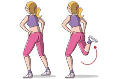 camminata attiva in casa: leg curl Yoga Gym, Yoga Fitness, Health Fitness, Pilates Workout, Hiit, Pilates Yoga, Leslie Sansone, Leg Curl, Keep Fit