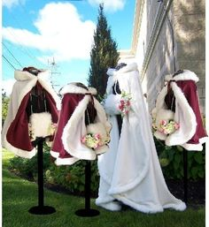 Oh my goodness the capes.  I'd definitely rock the long one if I had a long gown, but, as it is... short capes for me or potential maids? (Although I think this is a listing for handwarmers...)