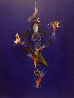 Natraj- Shiva the Great Dancer Painting by sandeep shinde Arte Shiva, Shiva Hindu, Shiva Art, Shiva Shakti, Hindu Deities, Hindu Art, Krishna Art, Shiva Yoga, Kali Shiva