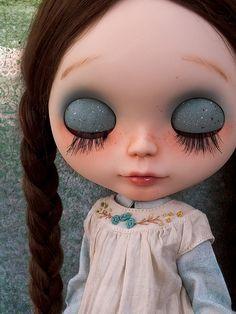 Bluebird~ Custom Blythe doll | For Jayne. Detail of her eyel… | Flickr