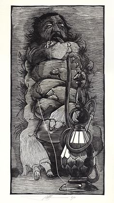 The Caterpillar by Barry Moser - Alice in Wonderland & Through the Looking Glass   R. Michelson Galleries