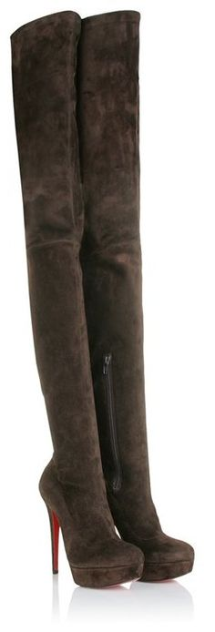These r the bomb!!! Christian Louboutin GAZOLINA 140 SUEDE OVER KNEE BOOTS - Click Image to Close