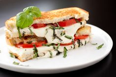 Tomato, mozzarella and basil on bread? Why not?! Click through to Cooking Classy for the caprese grilled cheese recipe.