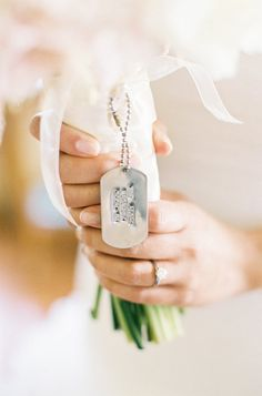 The Vault: Curated & Refined Wedding Inspiration Bouquet Charms, Wedding Images, Dog Tag Necklace, Wedding Photography, Photography Ideas, Wedding Inspiration, Wedding Ideas, Floral Design, Wedding Planning