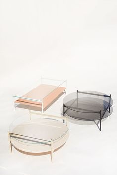 Duotone Coffee Table is a minimal coffee table created by Florida-based designers Yield. Design Furniture, Furniture Layout, Table Furniture, Furniture Dolly, Furniture Showroom, Leather Furniture, Farmhouse Furniture, Painting Furniture, Cheap Furniture