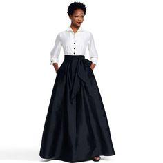 High Quality 2017 Custom Made Long Black Skirt Ball Gowns With Pockets Vintage Satin Floor Length Maxi Skirts Women Zipper Skirt