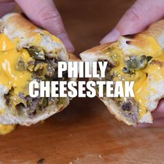 How to make the best Philly Cheesesteak sandwich recipe ever, using sirloin steak, mushrooms, peppers, and onions. Easy skillet meal and traditional sandwich recipe! recipes for two recipes fry recipes Philly Cheese Steaks, Philly Cheese Steak Sandwich Recipe Easy, Philly Sandwich, Easy Sandwich Recipes, Meat Sandwich, Easy Dinner Recipes, Steak Sandwiches, Burger Recipes, Beef Recipes