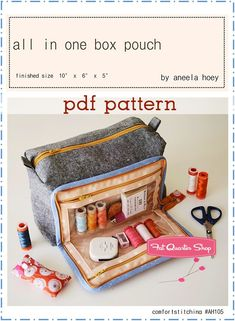 New ideas for sewing kit gift purses Sewing Hacks, Sewing Tutorials, Sewing Blogs, Sewing Machine Tension, Diy Sac, Creation Couture, Fat Quarters, Pdf Sewing Patterns, Sewing Kits