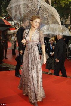 Emma Watson - Vintage 70s Ossie Clark dress - Styled by Palette - Harry Potter premiere
