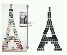 eiffel tower photo diy for your wall! such a cute idea!