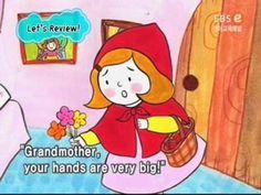 Little Red Riding Hood, in het Engels, met Engelse ondertiteling