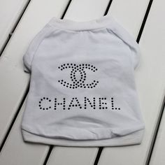 White pet dog clothes/clothing/pet T-shirt pet products on Etsy, $15.99