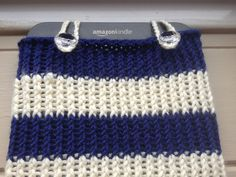 'Hello Sailor' knitted Kindle Keyboard Cozy.