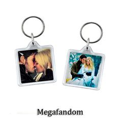 Captain Hook and Emma Swan Once Upon a Time Keyring Double Sided
