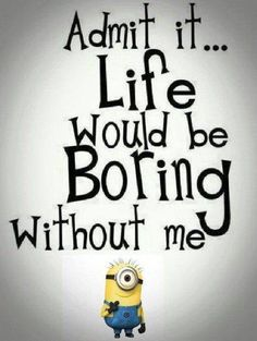 """42 Funny Quotes Of The Day """"Never let your friends feel lonely. Disturb them all the time."""" -- Funny Minions Friendship Quotes Of The Day Here are the best collection of Funny Minions Quotes and Funny pictures about daily life. Funny Minion Pictures, Funny Minion Memes, Minions Quotes, Funny Jokes, Cute Minions, Minions Images, Minion Humor, Funny Images, Funny Photos"""
