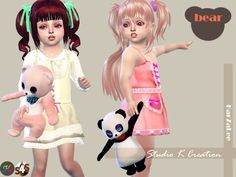 Teddy bear toy for toddler by Karzalee for The Sims 4