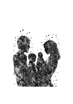 Mother And Son Painting - Family by Rosalis Art Mother Daughter Art, Mother Art, Father And Son, Family Illustration, Illustration Art, Family Drawing, Family Painting, Tattoo Mutter, Pregnancy Art