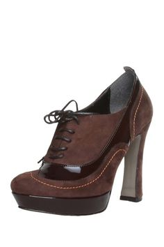 Made in Italia Lace-Up Wing-Tip Platform Pump
