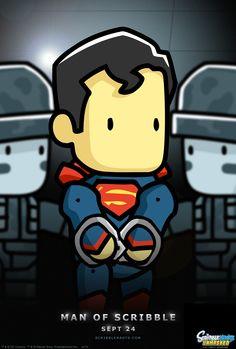 """It's not an """"S."""" On my world, it means """"Scribblenauts."""" #Scribblenauts #ScribblenautsUnmasked #DCComics #Superman #ManofSteel"""