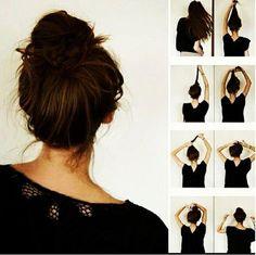 Twist Braid HairStyles: #Messy #Bun #Hairstyle #DIY #Hair #Cheveux #Coiffure #Frisur #Haartacht #Chignon #Cabello