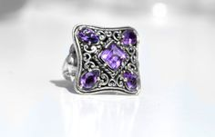 Hey, I found this really awesome Etsy listing at https://www.etsy.com/listing/202058741/amethyst-bali-ring