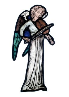 Angel with vielle, c. 1300-1310, kept at the Walker Art Gallery, Liverpool.  http://www.cvma.ac.uk/jsp/record.do?mode=ADV_SEARCH&gridView=false&sortField=WINDOW_NO&sortDirection=ASC&rowsPerPage=20&selectedPage=1&photodataKey=17745&recPosition=6&recordView=DETAIL