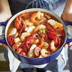 Gulf Coast Seafood Stew Recipe - - Hurricane Katrina and a subsequent oil spill off the coast of Louisiana renewed appreciation for our region's seafood. This stew shows off its incomparable flavors,. Fish Recipes, Seafood Recipes, Cooking Recipes, Healthy Recipes, Chowder Recipes, Keto Recipes, Seafood Stew, Fish And Seafood, Fish Dishes