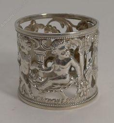 Antiques Atlas - English Figural Napkin Ring - Cherubs - 1901