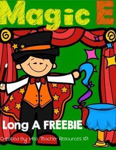 Magic E - CVCE Words - Long A Printable FREEBIE