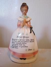 Enesco's prayer lady napkin holder, excellent condition, low shipping and photons!
