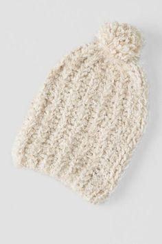 Eyelash Knit Beanie with Pom $24.00