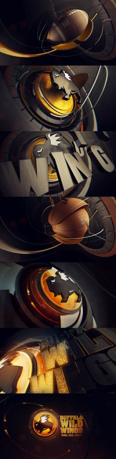 motion graphics/ storyboards/ styleframes | Buffalo Wold Wings x NFL by Andrew Serkin