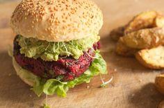 #redbeet #burger #vegan and #glutenfree