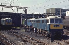 Class leads an impressive group at Crewe Depot on May 1966 (John Evans) E Electric, Electric Train, Electric Locomotive, Diesel Locomotive, Uk Rail, British Rail, Train Pictures, Blue Art, Britain