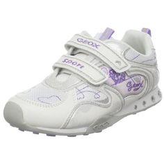 Geox Girl's New Jocker 1 Sneakers, White, 35 EU (3.5 M US Big Kid) $70.00