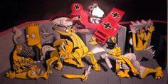 Simpsons + Gernika, by Ron English