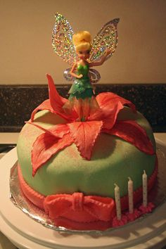 Tinkerbell Cake - fondant and gum paste