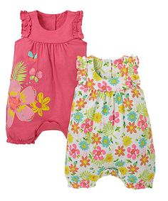 £12 Floral Rompers - 2 Pack