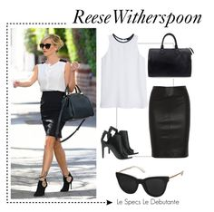 """""""Celebrity Spotter: Reese Witherspoon"""" by visiondirect ❤ liked on Polyvore featuring Joseph, Alepel, Louis Vuitton, MANGO, Le Specs, women's clothing, women, female, woman and misses"""