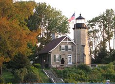 White River Light Station Museum - Whitehall, Michigan -- A vintage 1875 lighthouse now used as a museum  which offers the opportunity to see what life used to be like around the great lakes. --   Photo courtesy of Sunde Sheckler