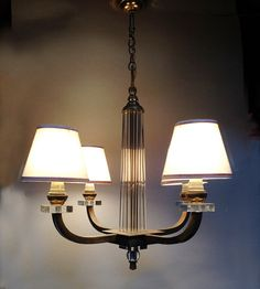 50's Ceiling Light - French Vintage Ceiling Light with 4 Arms