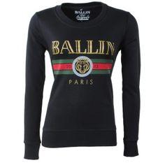 66ca3e36f20 Ballin Paris - Dames Sweater - Ronde Hals - Tijger - Zwart