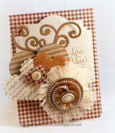 Kristi's Paper Creations:   Love You Card with Zipper Flower embellie.....