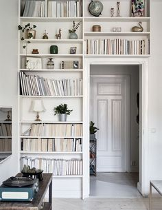 i like the look but how impractical to have all the books facing in so you can't read the titles