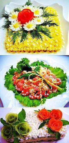 Украшение праздничных салатов, закусок, десертов / Едальня
